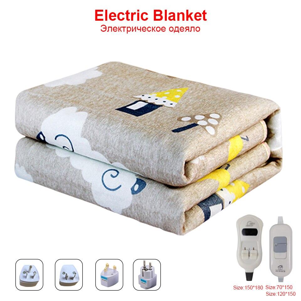 Manta eléctrica de 220v, calentador térmico de doble cuerpo, alfombra calefactable, Manta...