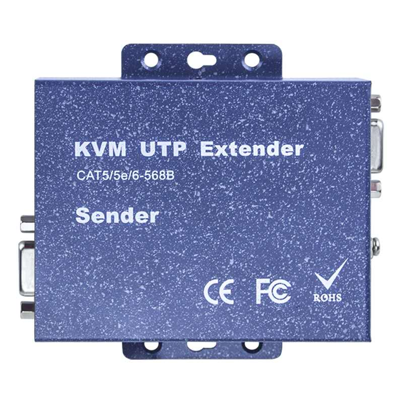 VGA-KVM network cable extender vga to network rj45 converter to usb keyboard and mouse extension transmitter 100m/200m/300m enlarge