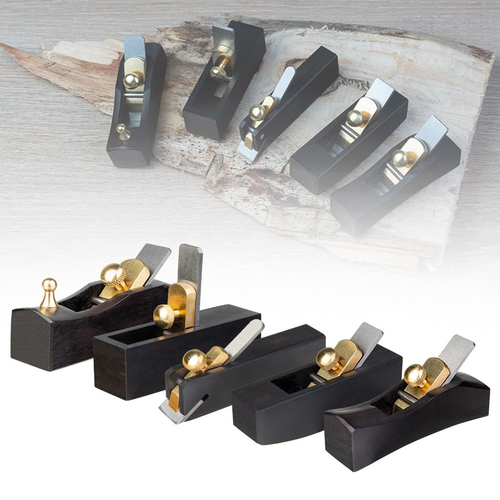 5PCS Ebony Wood Mini Plane Angle Plane Luthier Tool Hand Plane for Violin Viola Cello Violin Parts Accessories