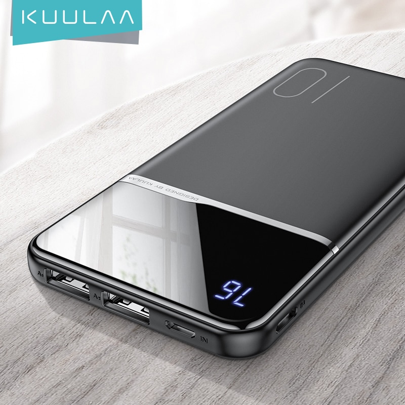 KUULAA Power Bank 10000mAh Portable Charger PowerBank 10000 mAh USB PoverBank External Battery Power
