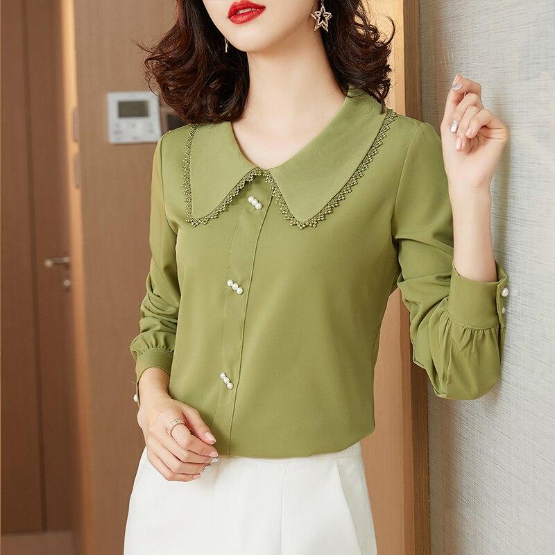 Pullover Blouse Shirts for Women 2021 Elegant Casual Long Sleeve T Shirt Women Fashion Koszula Damska Elegancka Blouses BG50BS
