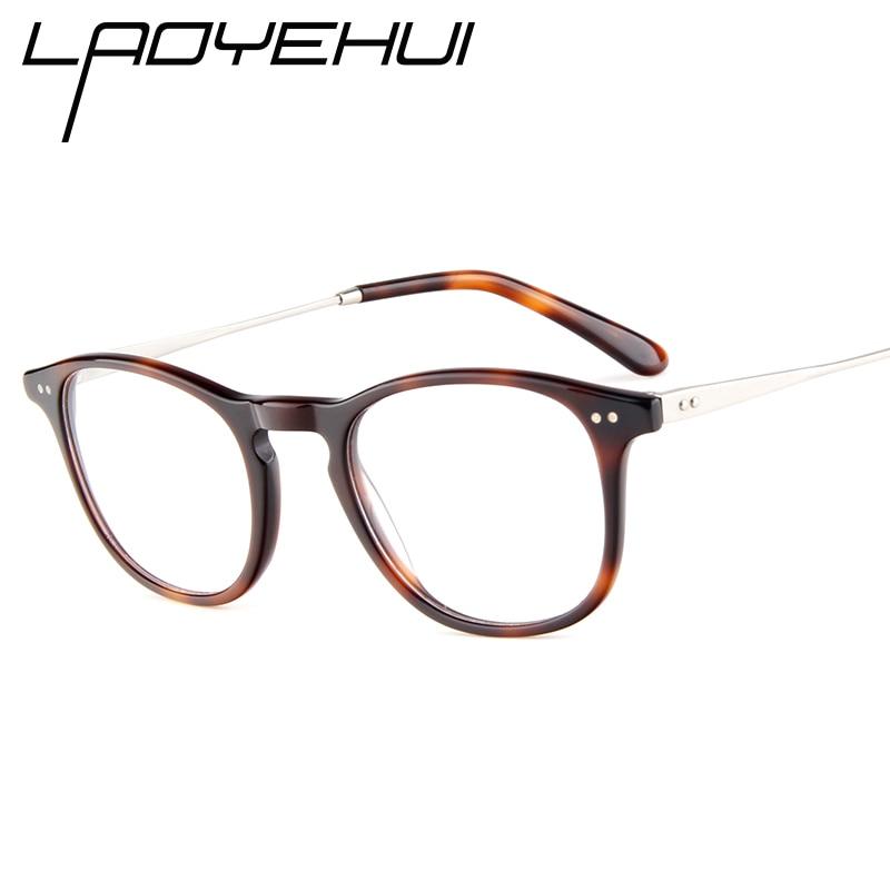 Montura de gafas de óptica con estampado de leopardo 2020, gafas graduadas ultraligeras para mujeres y hombres, montura de aleación de acetato de alta calidad