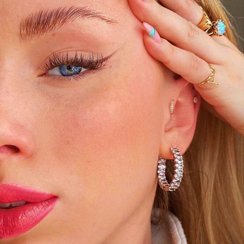 Handmade Eternity Promise Crystal Earring AAA Zircon Engagement Wedding Band Rings For Women Men Finger Party Jewelry