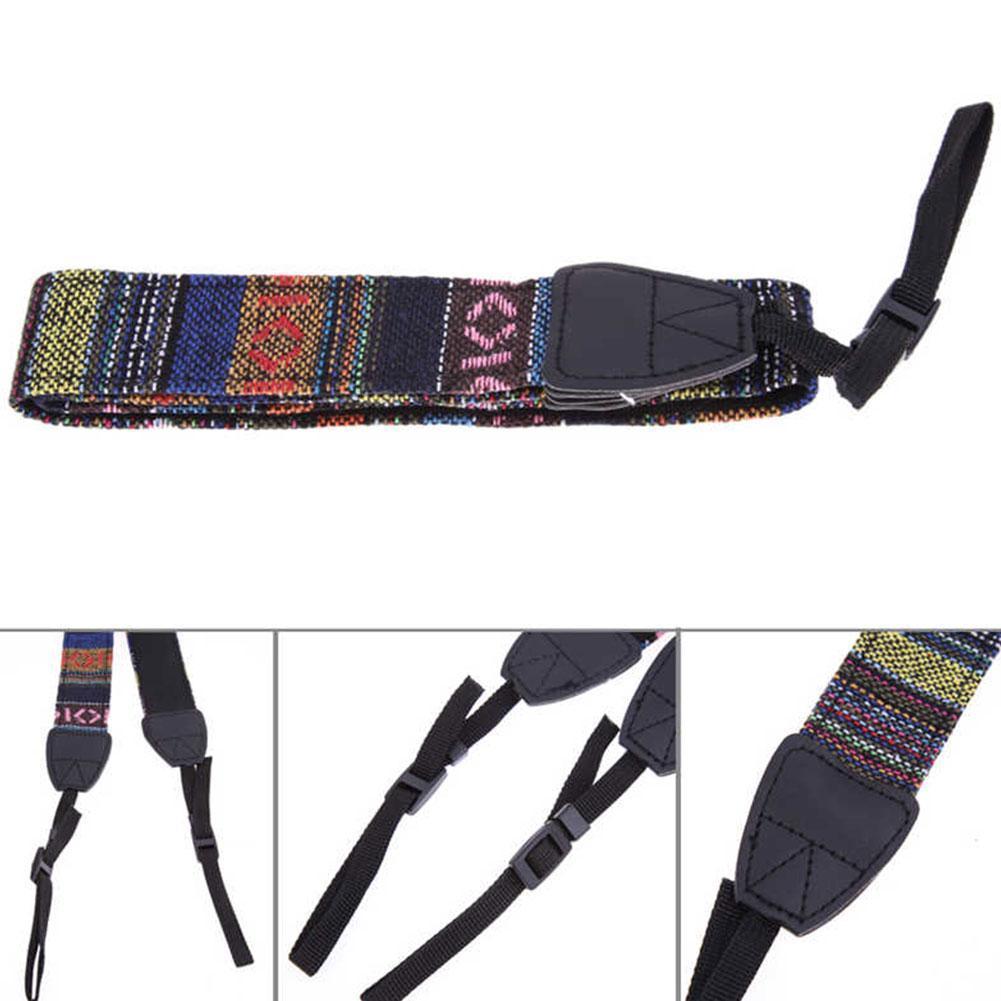 5piece 2021 New Adjustable Cotton Camera Strap, Shoulder Neck Belt For Sony/nikon Slr Cameras Strap Accessories Strap Holes 1cm