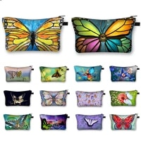 fashion butterfly print cosmetic bags for make up ladies makeup bag function cosmetic cases 1pc waterproof cosmetic bag