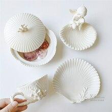 Tasses à café créatives nordiques en céramique blanc luxe rétro mignon cadeau tasses os chine mer tasse soucoupe Xicara turc tasse à café AC50BD