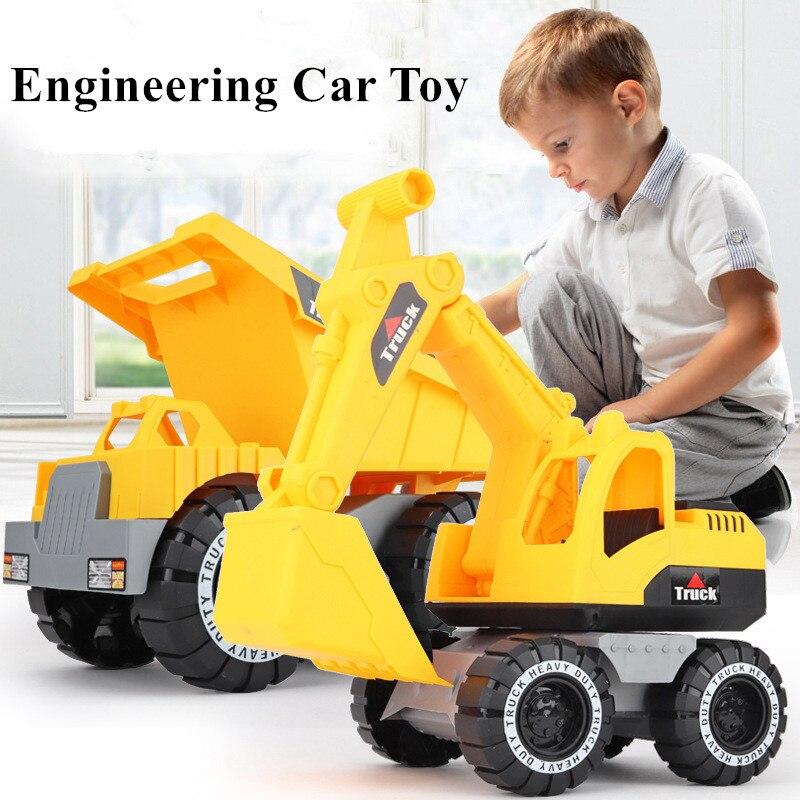 1 шт. детский классический симулятор инженерный автомобиль игрушка экскаватор модель трактор игрушка самосвал Игрушечная модель грузовика транспортные средства мини подарок для мальчика