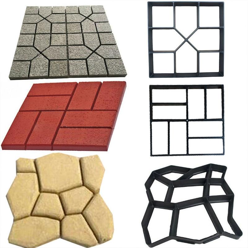 Garden Walk Pavement Mold Reusable DIY Path Maker Manually Paving Garden Tools Paving Cement Brick Stone Road Concrete Molds ✈