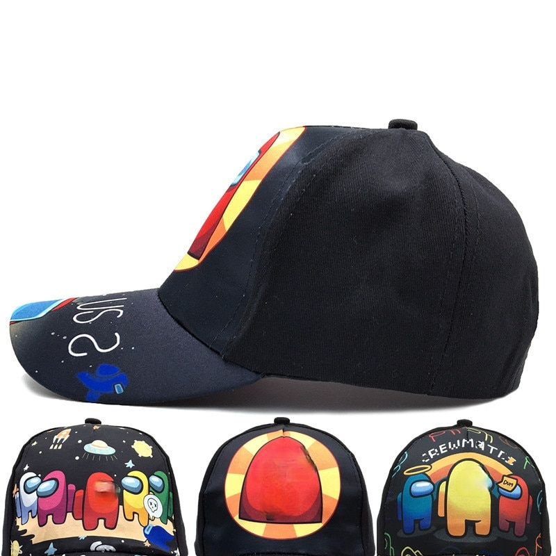 3-7 Years Children's Baseball Caps for Boy Girl Print Cartoon Game Among Snapback Summer Kids Cotton