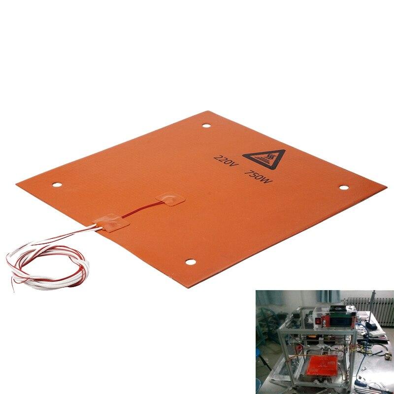 750w 220v 310*310 مللي متر سيليكون ساخنة السرير لوحة التدفئة ل CR-10 3D طابعة