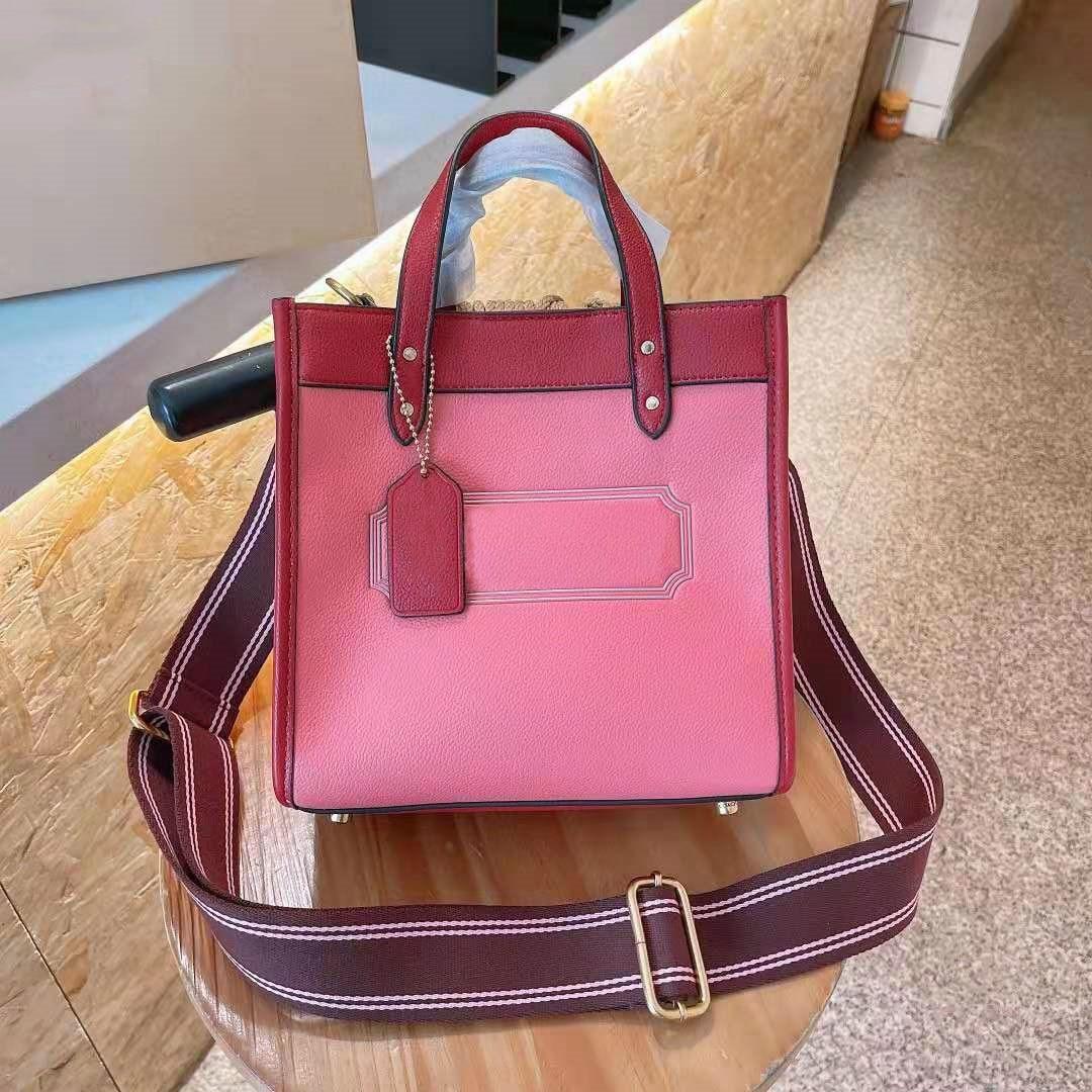 السيدات حمل حقيبة حقيبة كتف حقيبة يد فاخرة تصميم حقيبة ساعي حقائب النساء الوردي