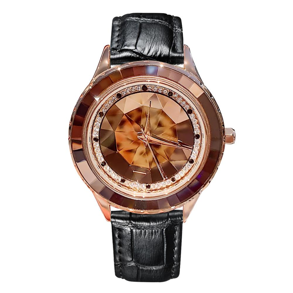 relojes para mujer Luxury Woman Watch 2019 Women's Leather Band Analog Quartz WristWatch Ladies Watch Women Dress Diamond Clock