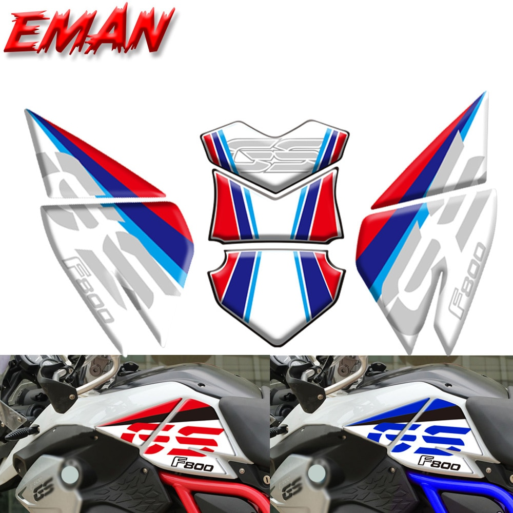 new motorcycle fuel tank side box protection sticker anti scratch decorative decal for bmw f850gs adv f 850 adv For BMW F800GS/ADV F 800 GS Motorcycle Oil Tank Side Box Protect Paste  Scratch and Anti Sliding Protection Sticker