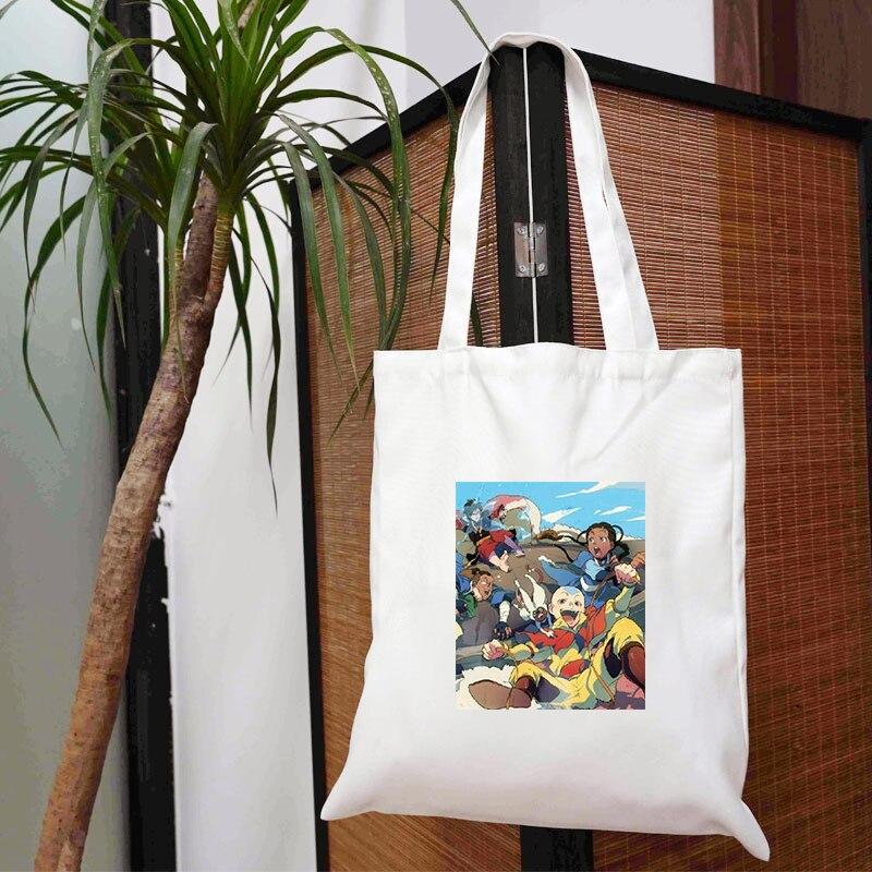 Последняя сумка Airbender, Текстильные женские сумки и сумки для продуктов, женские сумки 2021, Дизайнерские Большие тканевые сумки с принтом, бес...
