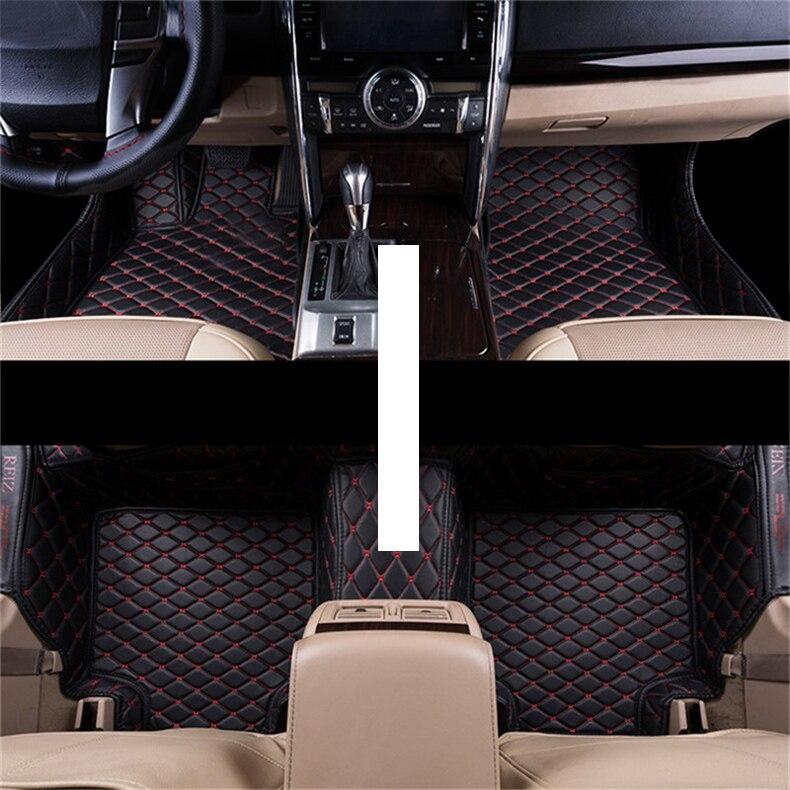 De fibra de coche de cuero alfombras de piso para toyota reiz Mark X 2004, 2005, 2009, 2008, 2007, 2006, 2011, 2012, 2013, 2014, 2015, 2016, 2017