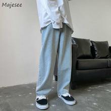 Men Jeans Autumn Male Trousers Cozy Breathable Retro Loose All-match Korean Trendy Streetwear Studen