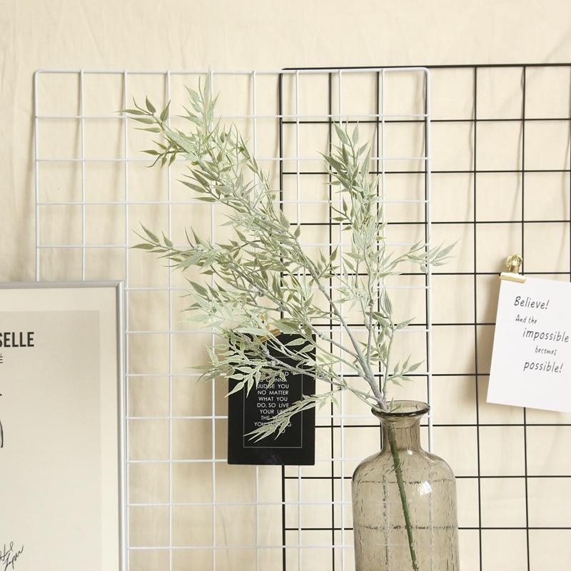77cm plástico verde bambú accesorios de hojas niebla Casa de flores artificiales decoración boda ramo planta flor fiesta pared