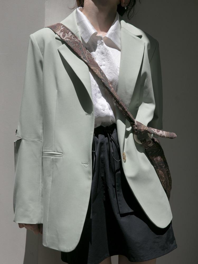 Suit Coat Women's New Loose Korean Personalized Cut Long Sleeve Fried Street Coat Trend