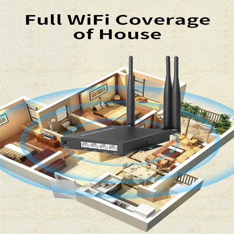 3G /4G LTE WiFi Modem Router 4G SIM Card Slot 300Mbps High Speed CPE WiFi Hotspot Waterproof Wireless 4G Router CAT6 Smart Home