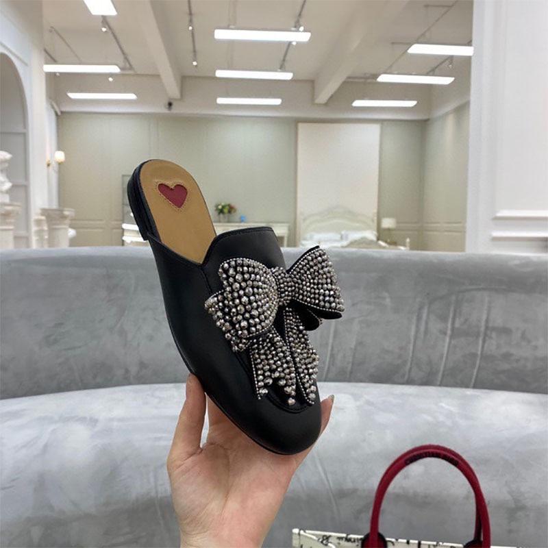 مولر أحذية الربيع و الصيف أحذية نسائية الجدة نمط مسطحة القاع مريحة المنزل في الهواء الطلق اثنين ارتداء حجم كبير 34-46