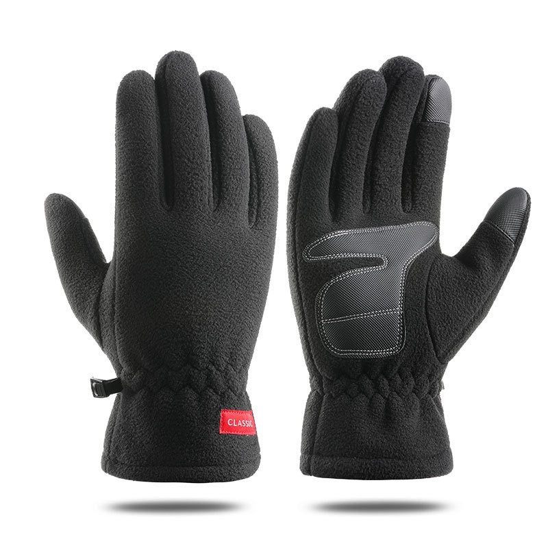 MCFK N705 cycling gloves men's winter plus velvet thick warm gloves sports driving touch screen warm