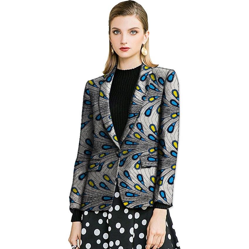 Elegant women's blazers Ankara fashion dashiki suit jackets party wear formal ladies African outfit customized