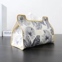 nordic modern tissue box luxury creative car tissue box toilet paper holder leather servilletero bathroom accessories bk50zj
