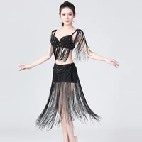 xl size beaded bra costume night club ds wear women bellydance outfits indian dancing clothes