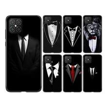 Man Suit Shirt Tie  Silicone For Huawei Nova 8 7 6 SE 7i 5T 5i 5Z 5 4E 4 3i 3E 3 2i 2 Lite 2 Pro 201