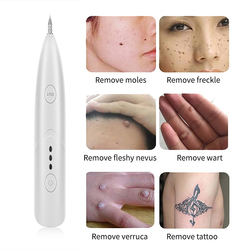 Laser Freckle Removal Machine Skin Mole Dark Spot Remover Beauty Instrument for Face Wart Tag Tattoo Remaval Pen Salon