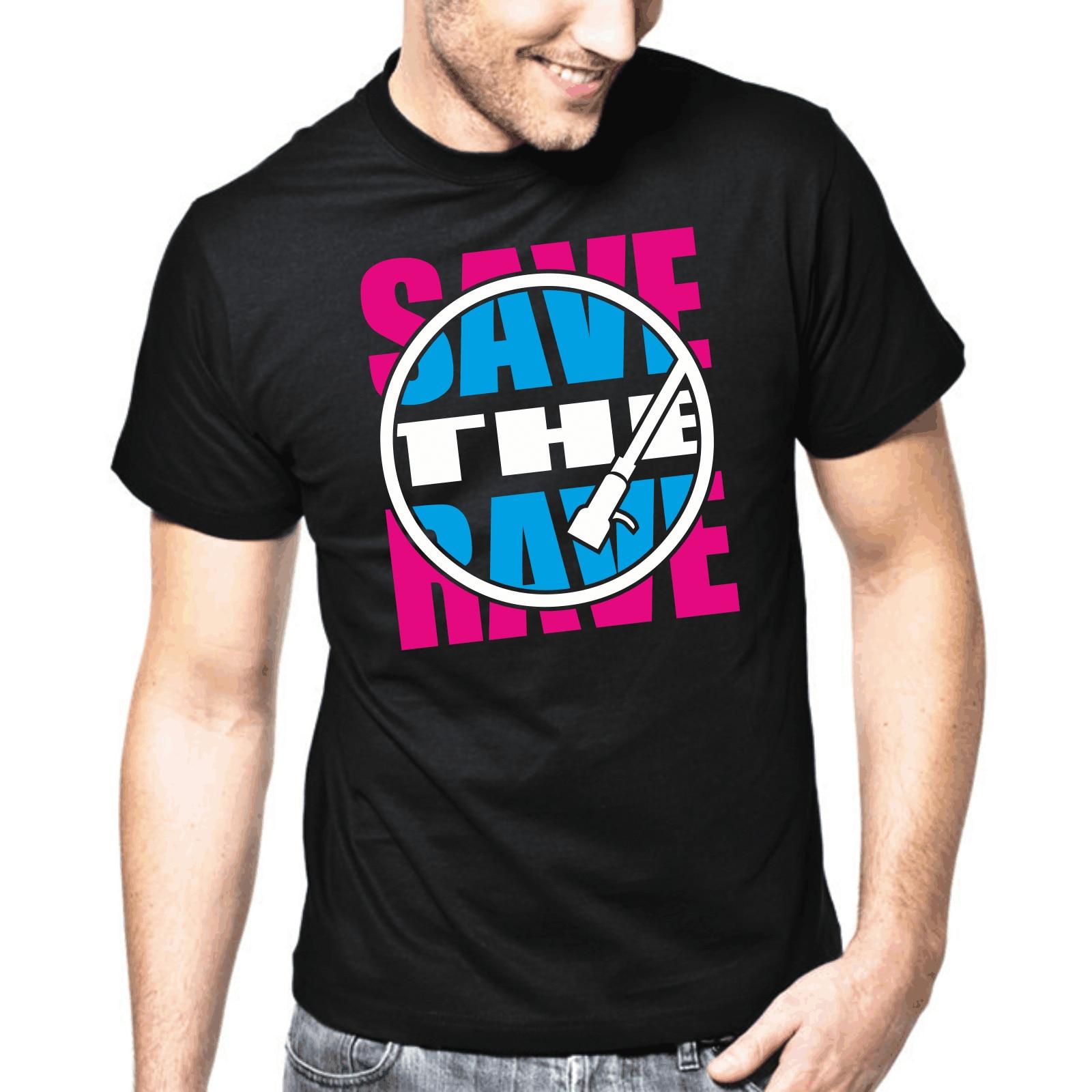 Salvar la fiesta tecno música electrónica Trance Club DE DJ S-3XL Camiseta de algodón diseño 3D T camisa hombres Camiseta de manga corta