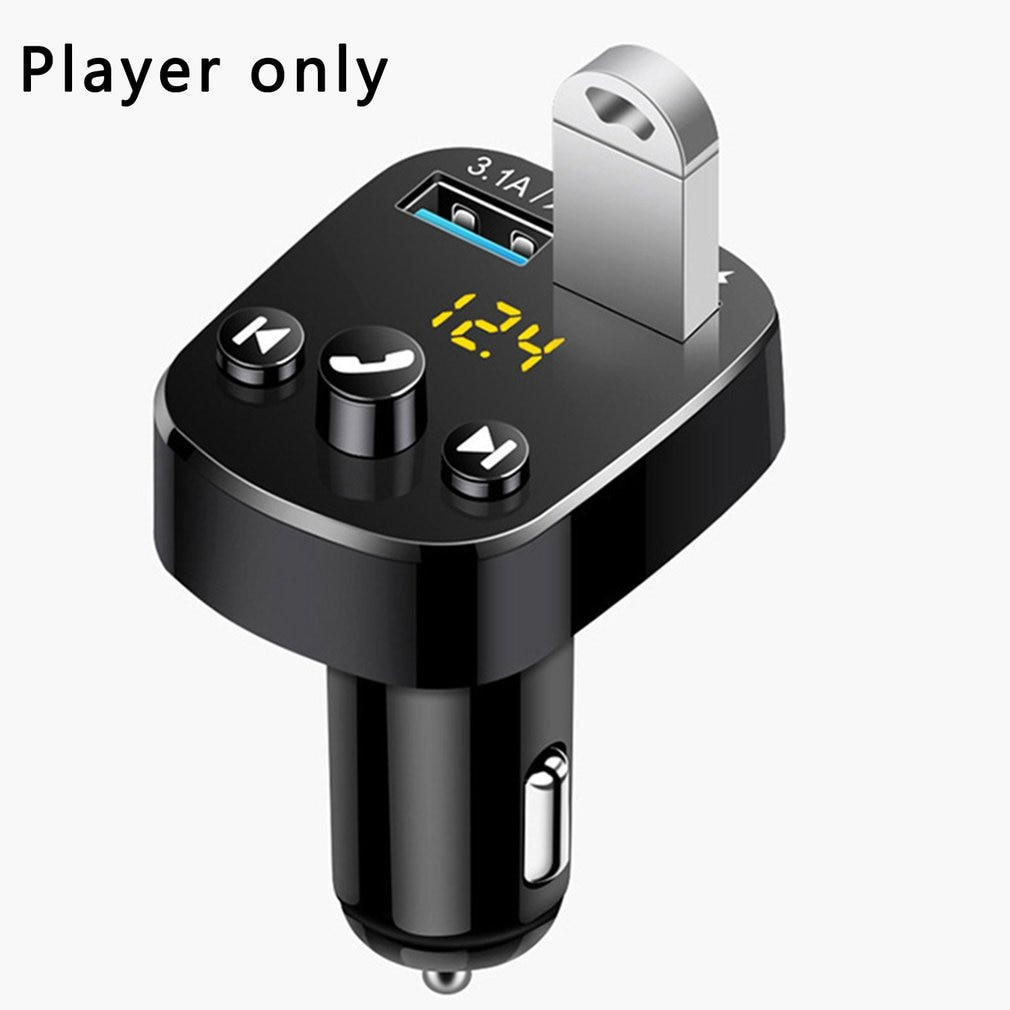 Wireless 5.0 Car Kit Handsfree MP3 Player FM Transmitter 3.1A Dual USB Charger U Disk Play In-Car Mo