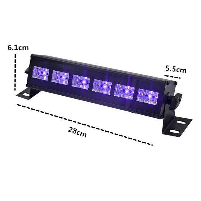 10sets 6 LEDs Disco UV Bar Lights Party Dj Lamp UV LED Wall Washer Lights Christmas Laser Projector Stage Wall Washer Lights