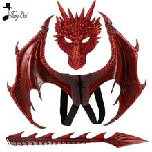 Disfraz de dragón de Animal para niños, conjunto de Cosplay con ala y cola, grifo para el Día de los niños, Purim, regalo de Navidad, fiesta de Carnaval