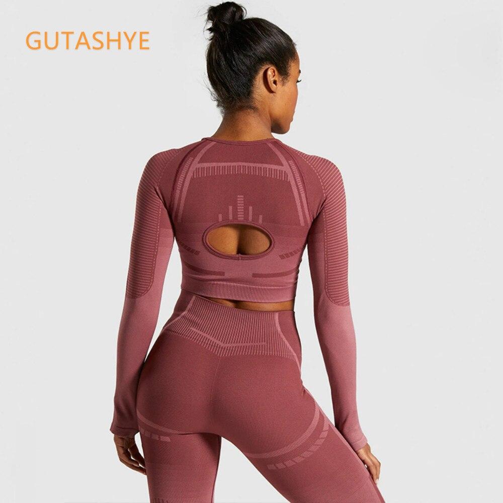 GUTASHYE 2 Piece Set Workout Clothes for Women Sports Bra and Leggings Set Sports Wear for Women Gym Clothing Athletic Yoga Set