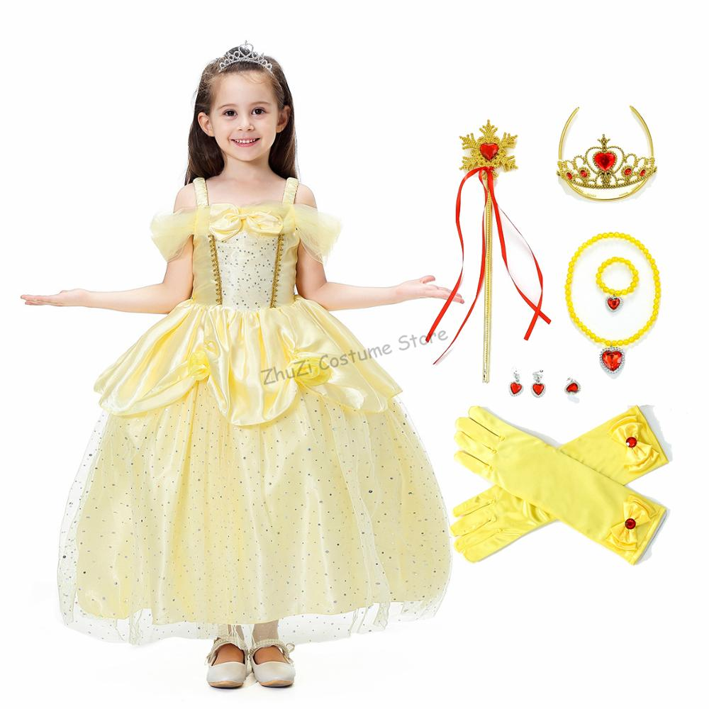 Vestido de princesa, vestido de princesa elegante, traje de flores fora do ombro