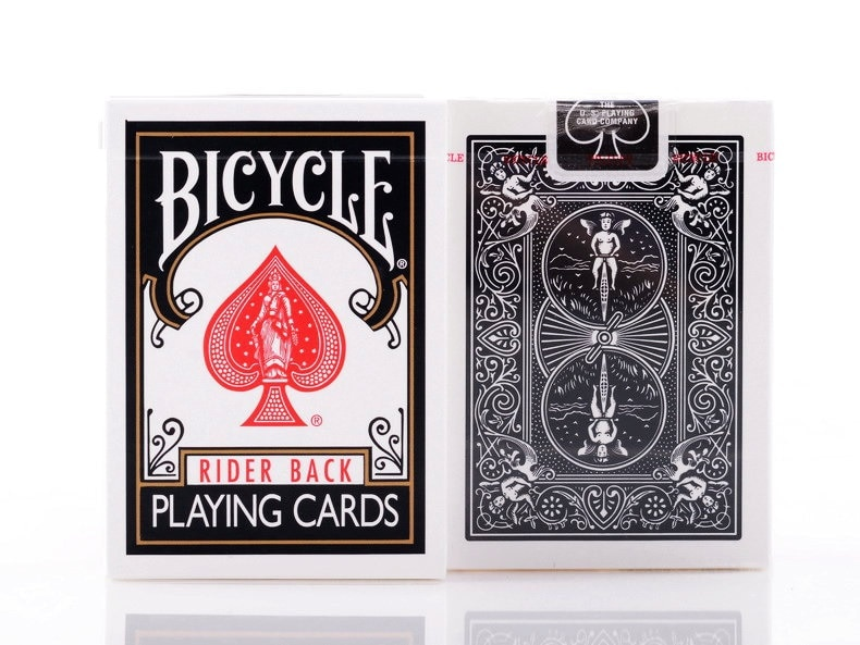 1pcs Bicycle Classic Black Deck Magic Cards Playing Card Poker Close Up Stage Magic Tricks for Professional Magician Free Ship magic cards svengali deck atom playing cards poker card games close up stage magic tricks props for magician