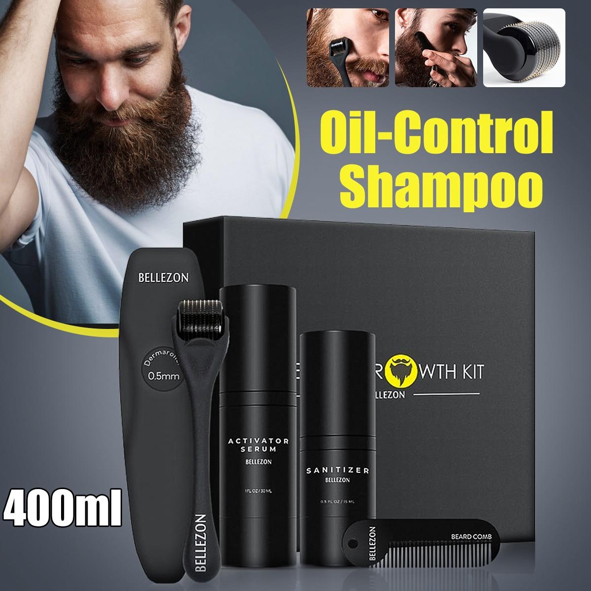 4 Teile/satz Männer Bart Wachstum Kit Haar Wachstum Enhancer Dicker Öl Pflegende Leave-in Conditioner Bart Wachsen Set mit kamm