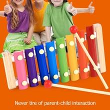 8 Tone Hand Percussion Piano Toy Rainbow Tower Parent-Child Interaction Kindergarten Home Kids Educa