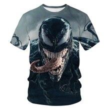 Offres spéciales nouveau 2020 t-shirt hommes plus récent Venom Marvel t-shirt 3D imprimé T-shirts hommes femmes décontracté Fitness t-shirt T-shirts hauts