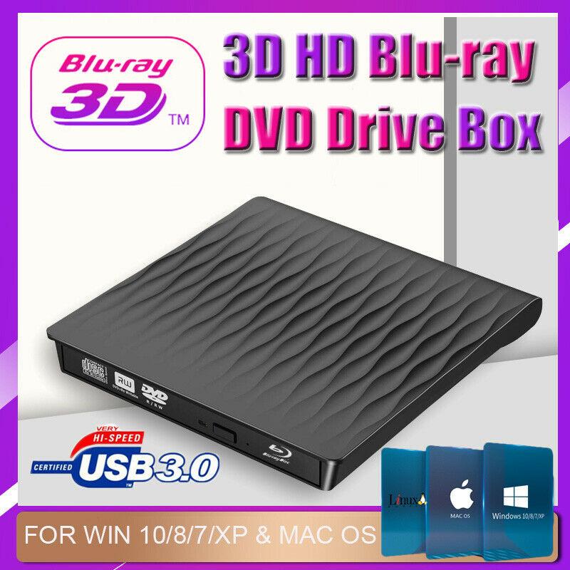 Externe Tragbare DVD RW Stick Schlank USB 3.0 DVD/CD Re-Writer Brenner Reader USA