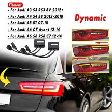 EIN Paar Limo Semi Dynamische Blinker Anzeige Für LED Rückleuchten Für Audi A6 S6 RS6 C7 Avant A5 8T A3 S3 RS3 8V
