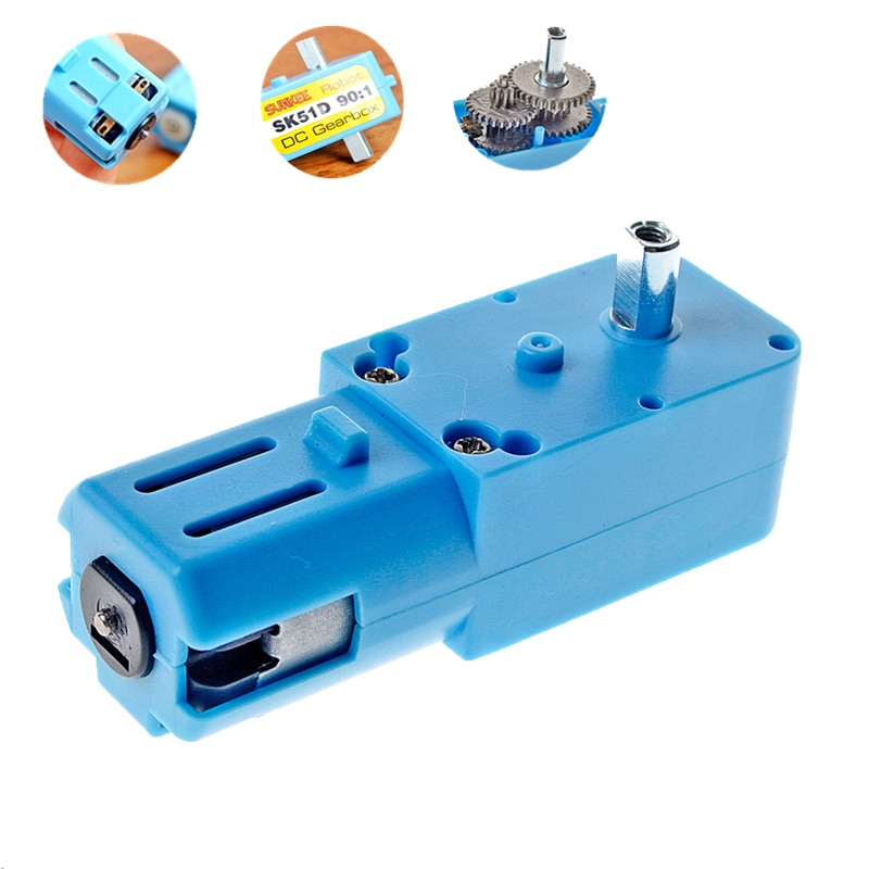 TT DC 6V 12V Gear Motor Single/Double Shaft CW/CCW DIY 1:90 Smart Racing Toy Robot Good