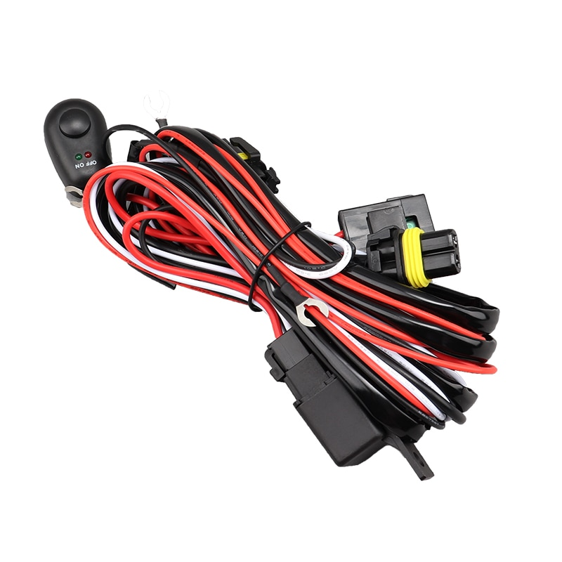 Luz antiniebla Led H11 H8 H9 arnés de cables conector con interruptor para faros antiniebla todoterreno DRL luces de conducción de trabajo