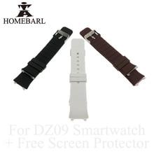 HOMEBARL Originale DZ09 Smart Cinturino di Vigilanza DZ 09 In Silicone di Ricambio Da Polso Watch Band Strap Cinturino Wristband + Pellicola di Schermo Libero