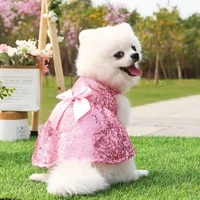 summer dress for dog pets dog clothes chihuahua wedding dress skirt puppy clothing spring dresses for dogs pet clothes xs 2xl