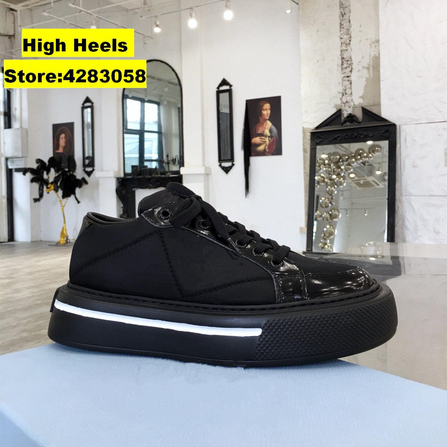 المدرج مصمم عادية المرأة أحذية رياضية جلد طبيعي أسود الدانتيل يصل تنفس سميكة وحيد حذاء كاجوال