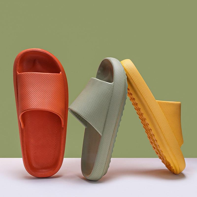 Plataforma do Desenhista Chinelos do Banheiro Corrediças de Fundo Slides para o Homem Nova Feminino Grosso Verão Praia Casa Interior Sapatos Eva Macio 2021