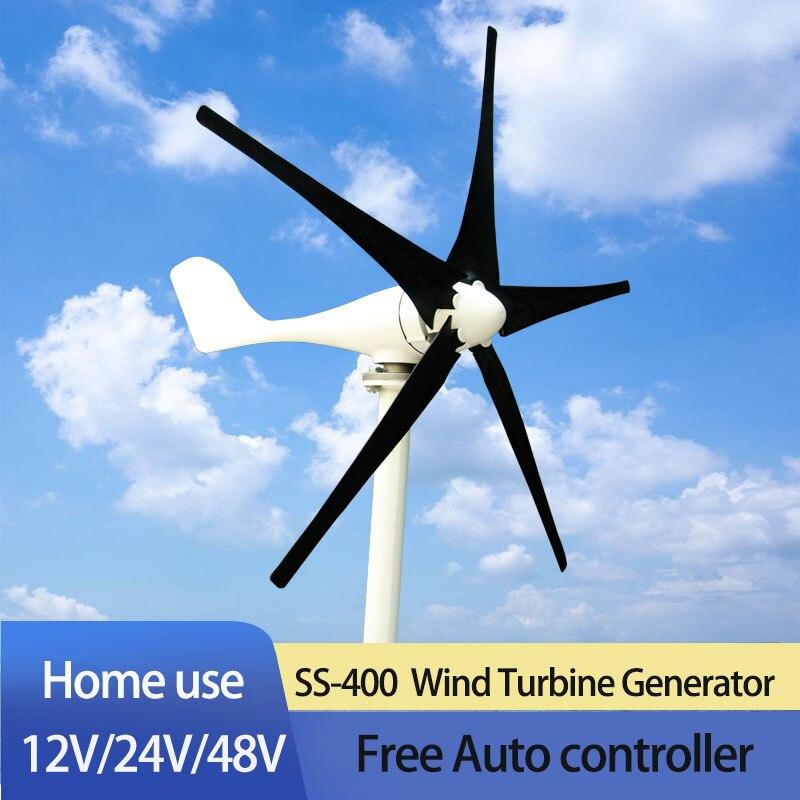 2020 New Arrival 3/5/6 Blades Free Energy Wind Turbine Generator 400w 600w 800w 12v 24v HighEfficient For Home Yacht Farm