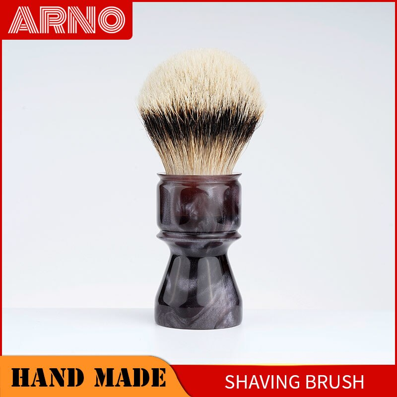 ARNOBRUSH - Shaving brush handle with badger hair  knot -Coruscant(smoke purple)